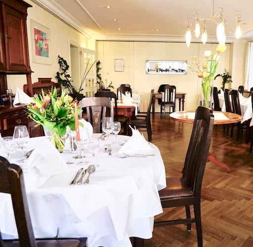 Restaurant in Mindelheim alte Post gedeckter Tisch