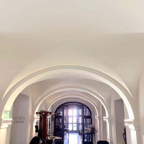 Decke Galerie Gewölbe historische Gebäude in Mindelheim