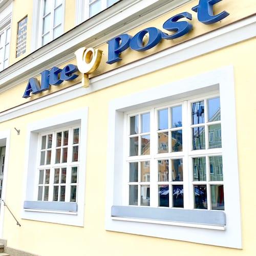 Außenansicht Hotel alte Post Logo